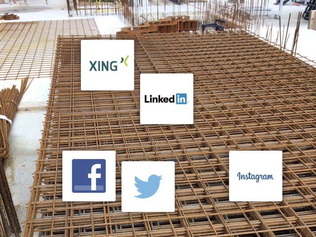 """Profitieren Sie vom """"Weiterempfehlungs-Potential"""" der Sozialen Netzwerke! (Collage: Internet für Architekten)"""