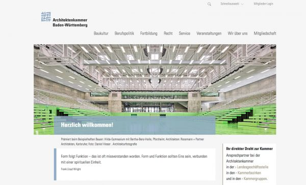 Sehr nützlich: Die Startseite hält auch direkte Links zu den verschiedenen Ansprechpartnern bereit (Screenshot Oktober 2018)