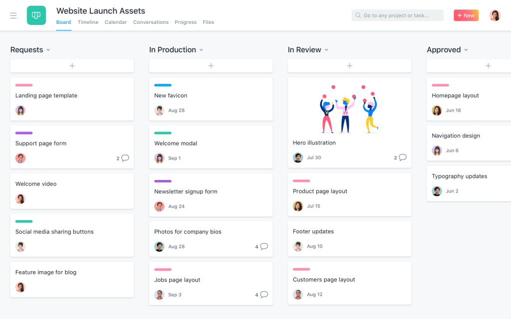 Projektmanagement-Software Asana (Screenshot: Asana)
