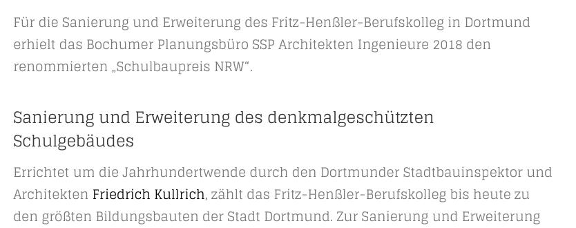 Zwischenüberschrift und Fettung in einem Blog-Beitrag (Screenshot von architekturmeldungen.de, 01/2019)