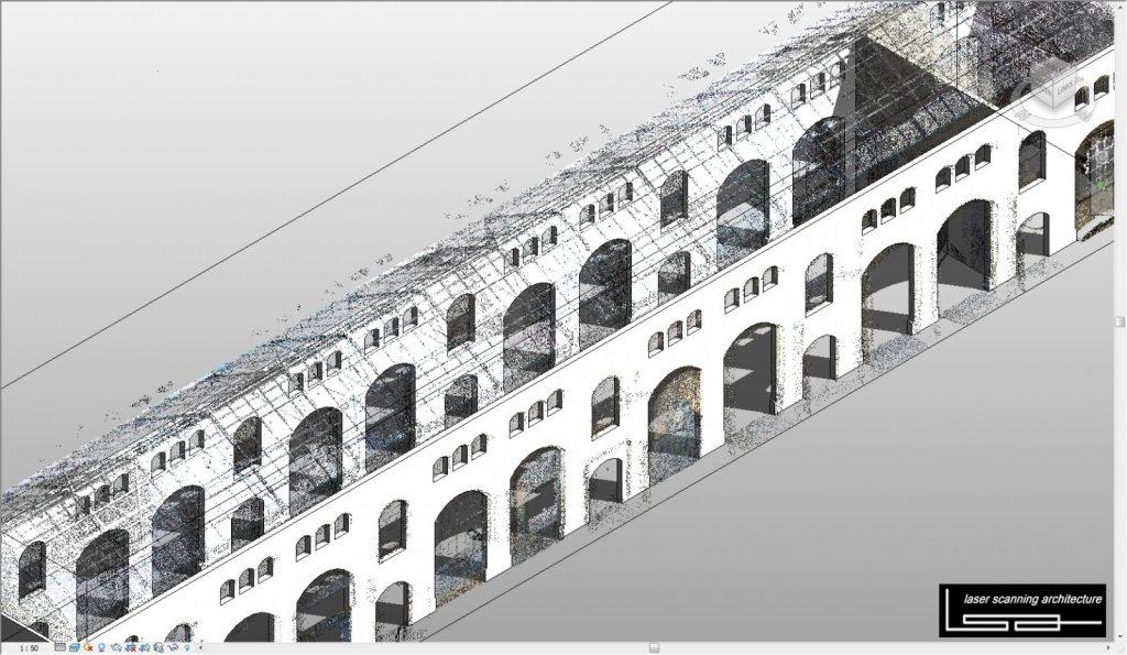 Modellieren der Punktwolke mit Autodesk Revit Architecture (Abbildung: Johannes Rechenbach)