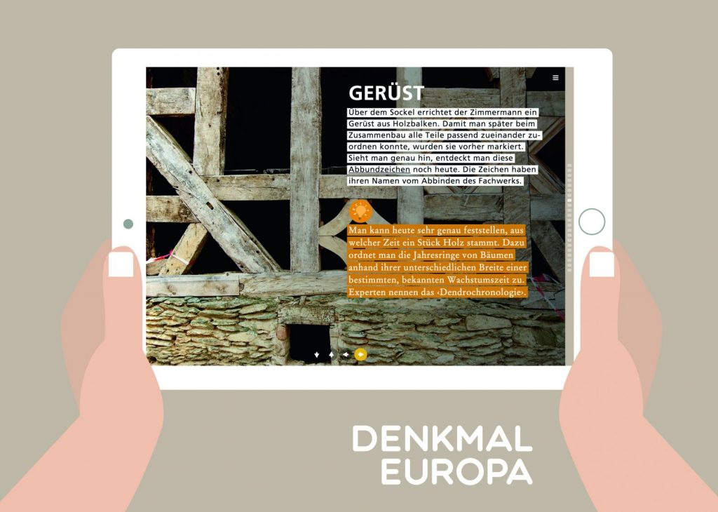 Neue Website denkmal-europa.de (Illustration: DENKMAL EUROPA)