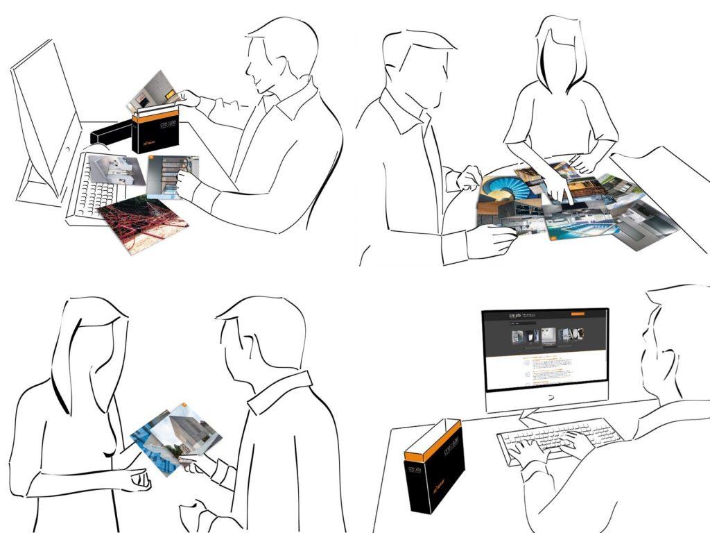 create with cre:ate: Präsentationskarten erleichtern die Bemusterung – auch in 3D (Grafik: Heinze)