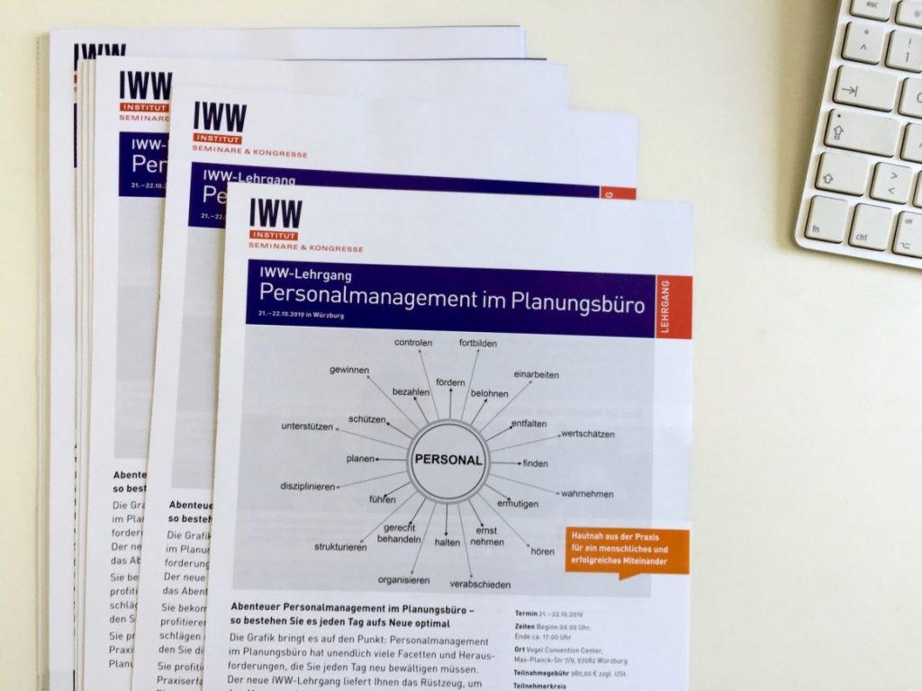 IWW-Lehrgang in Würzburg: Personalmanagement im Planungsbüro (Foto: Eric Sturm)