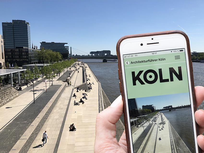 Online-Architekturführer Köln: Die Rheinterrassen in Köln-Deutz (Foto: Uta Winterhager/koelnarchitektur.de)