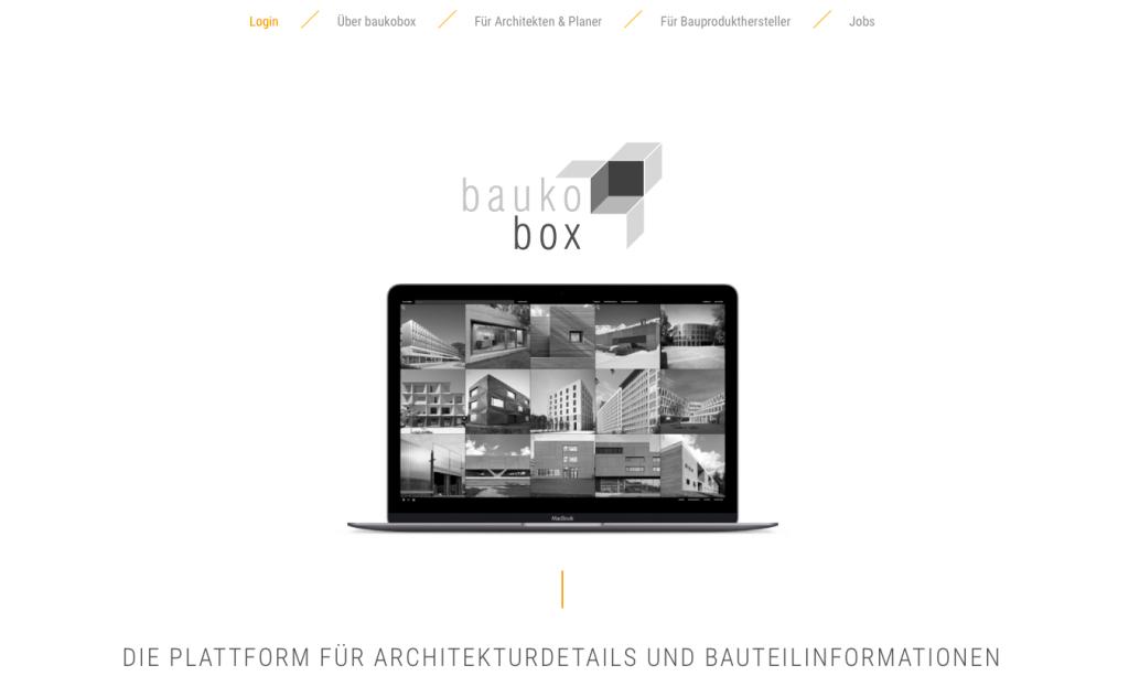Die Startseite von baukobox.de (Screenshot, November 2019)