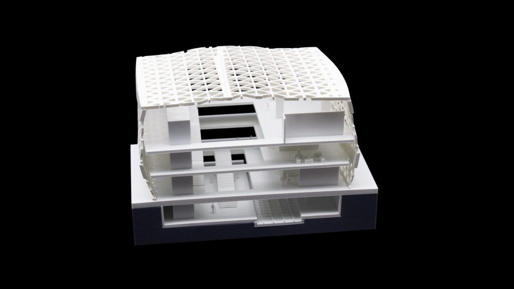 Akkurat und detailgetreu: Präsentationsmodelle (hier ein Schnittmodell) vermitteln Bauherren und Entscheidern ein realitätsnahes Bild des Bauvorhabens (Foto: Formicore)