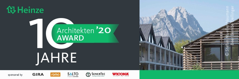 10 Jahre Heinze ArchitektenAWARD (Grafik: Heinze)