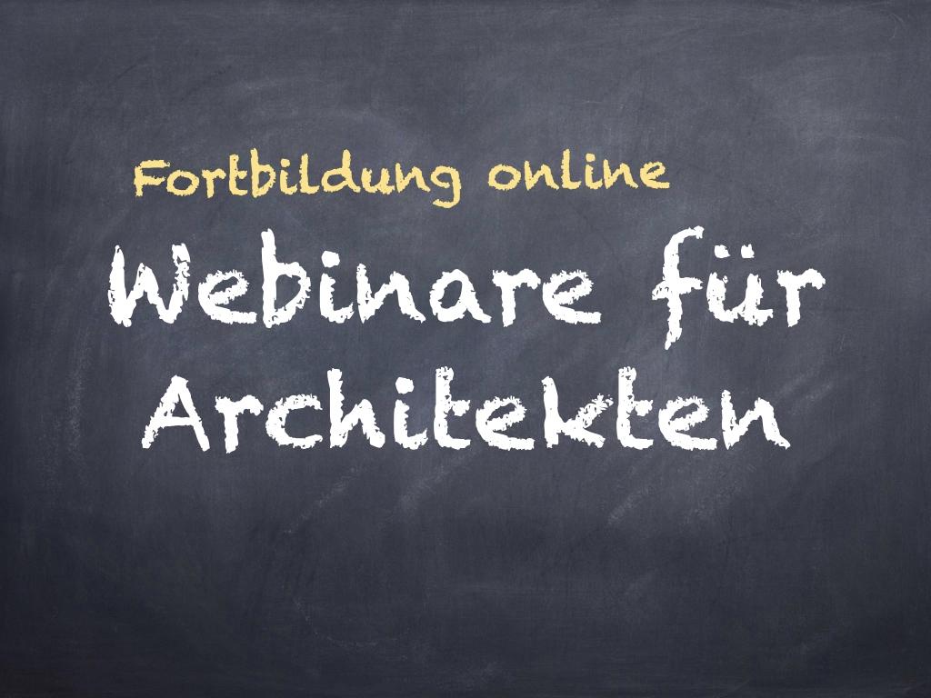 Webinare für Architekten – Fortbildung online (Grafik: Internet-fuer-Architekten.de)