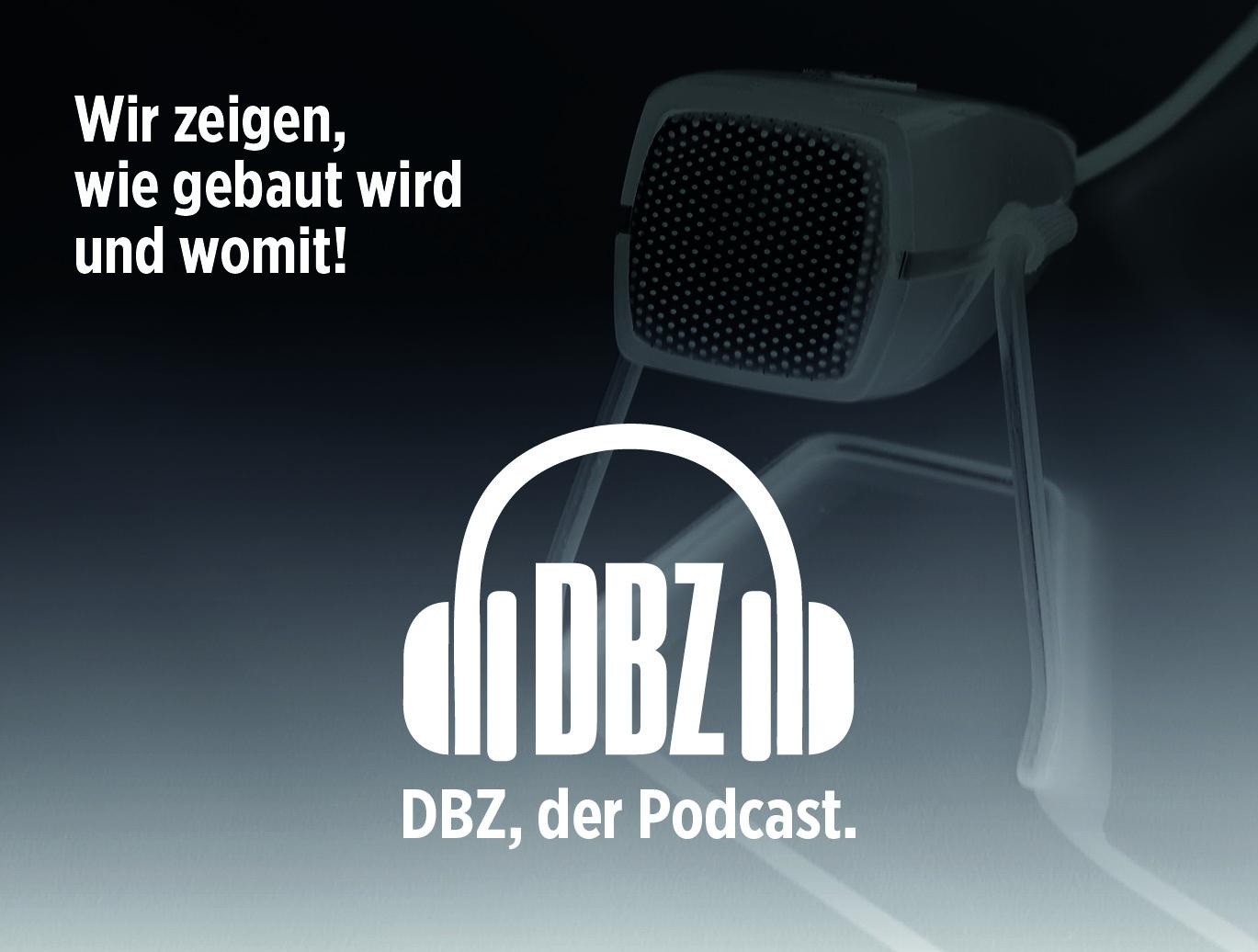 Planen und Bauen zum Hören: Die DBZ Deutsche BauZeitschrift startet Architektur-Podcast (Grafik: DBZ)