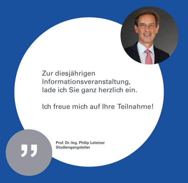 Prof. Dr.-Ing. Philip Leistner, Einladung Informationsveranstaltung Master Online Bauphysik (Abbildung: Institut für Akustik und Bauphysik, Universität Stuttgart)