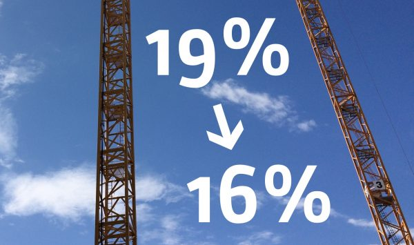 Temporäre Mehrwertsteuersenkung (Umsatzsteuersenkung) bei Architektenverträgen: Die Bundesarchitektenkammer beantwortet die wichtigsten Fragen (Foto: Internet für Architekten)