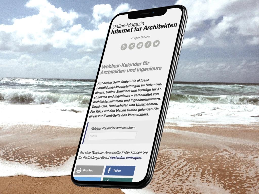 Online-Fortbildung für Architekten: Newsletter August 2020 (Collage: Internet-fuer-Architekten.de)