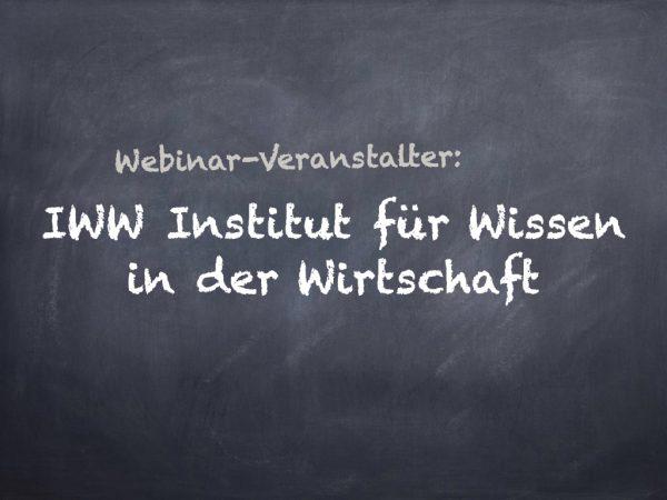 Fortbildung online: IWW Institut für Wissen in der Wirtschaft