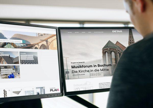 Die neue Produkt- und Projektplattform für Architekten und Hersteller verbindet die umfangreiche Projektdatenbank DETAIL inspiration mit der Bauproduktdatenbank von Plan.One (Foto: Plan.One)