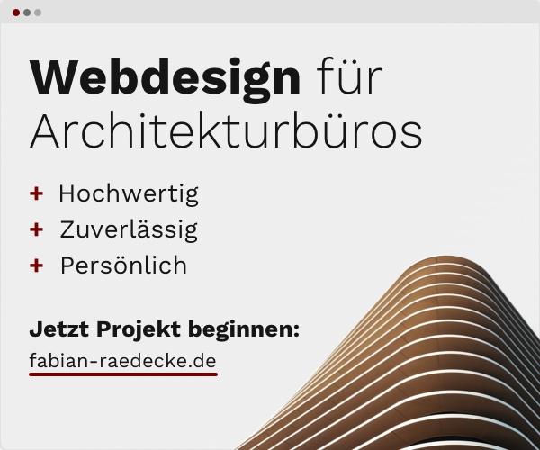 Webdesign für Architekturbüros - Fabian Rädecke