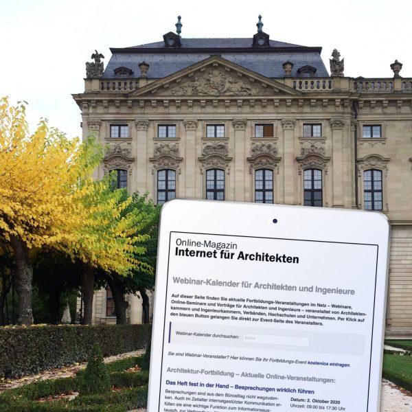 Online-Fortbildung für Architekten im Oktober 2020: In unserem Webinar-Kalender finden Sie passende Online-Events! (Foto/Collage: Eric Sturm)