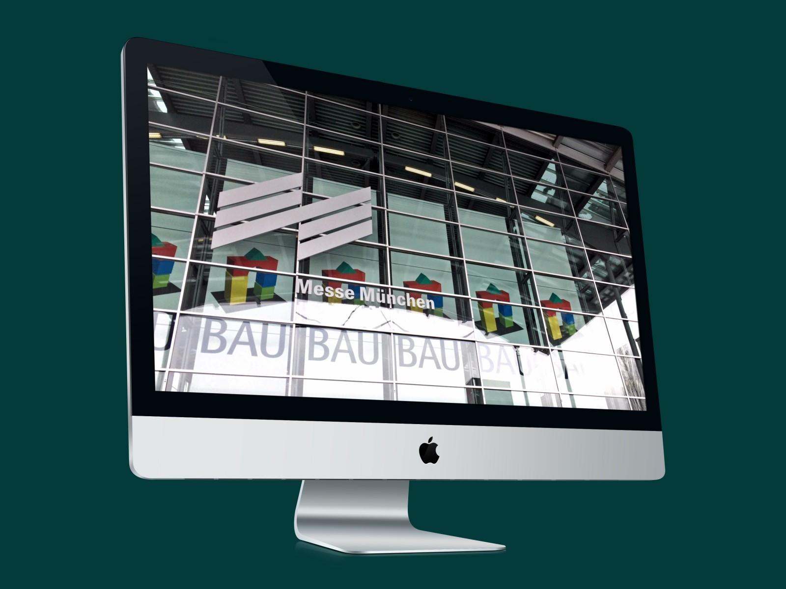 Die BAU 2021 findet am heimischen Rechner statt: Verfolgen Sie die Livestreams der BAU ONLINE im Netz (Collage/Foto: Internet-fuer-Architekten.de)