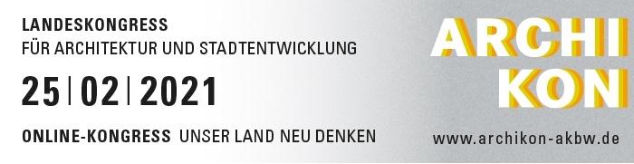 Architekturkongress ARCHIKON 2021 – Online-Kongress der Architektenkammer Baden-Württemberg (Grafik: AKBW)