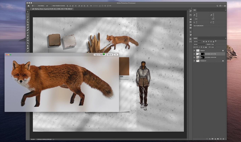 Die freigestellten Objekte lassen sich bequem in andere Programme auf dem Rechner übertragen (Foto: ClipDrop)