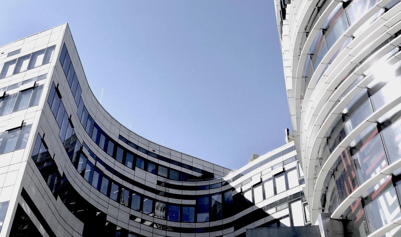 Der Kö-Bogen in der Düsseldorfer Innenstadt (Foto: Ute Latzke)