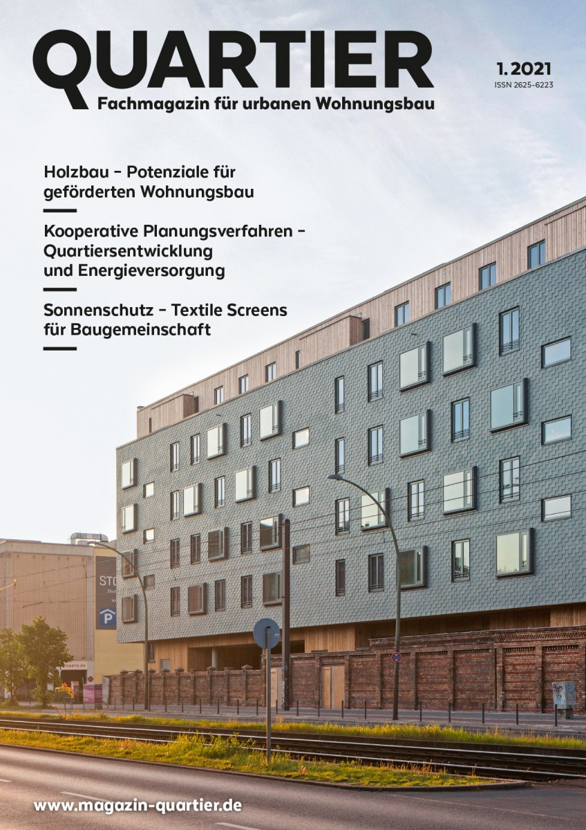 QUARTIER Fachmagazin für urbanen Wohnungsbau