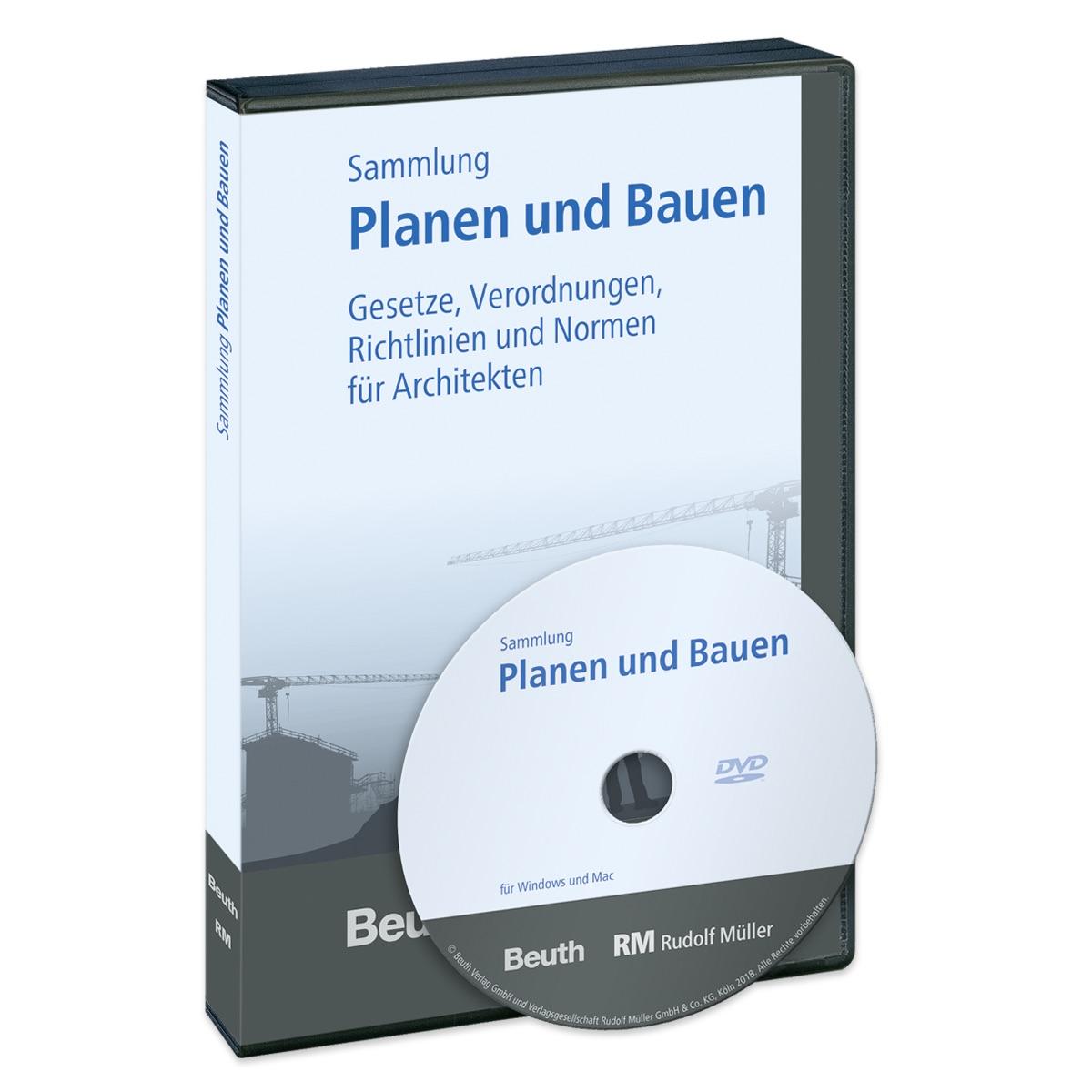 """Die DVD """"Planen und Bauen"""" enthält alle wesentlichen DIN-Normen und Bauvorschriften für Planung, Berechnung und Konstruktion von Gebäuden. (Foto: RM Rudolf Müller)"""