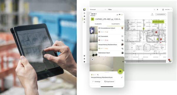 Die Baumanagement-Software Capmo ermöglicht eine digitale Dokumentation per App (Fotos: Capmo GmbH)