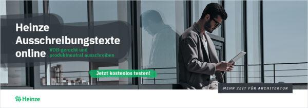 Heinze Ausschreibungstext online (Grafik: Heinze)
