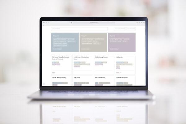 Das Verzeichnis für Architekturkommunikation auf philipkistner.com umfasst 650 Magazine Blogs und Plattformen (Foto: Philip Kistner)